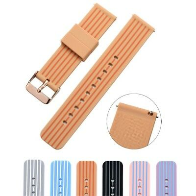 (18mm, walnut/brown) - Cumeou Silicone Replacement Quick Release Watch Band