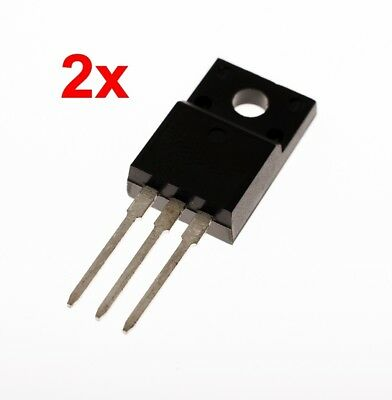 2x STP10NK60ZFP MOSFET N-CH 600V 10A TO220FP Transistor # 709226