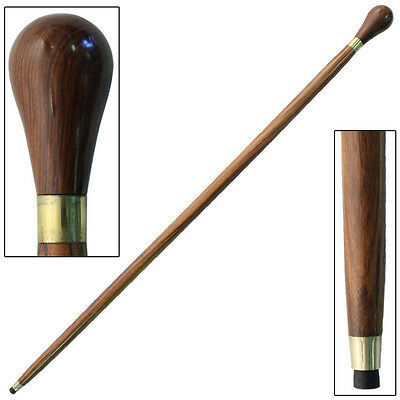 Traditional Leisure Sheesham Wooden Knob Handle Walking  Cane Stick