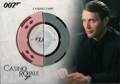James Bond Complete, Casino Royale Casino Chip Authentic Relic Card RC18