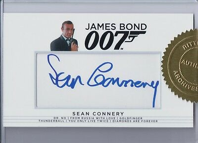 James Bond Archives 2017, Sean Connery 'James Bond' Autograph Card