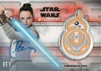Star Wars The Last Jedi Series 2, Daisy Ridley 'Rey' Autograph / Patch Card #5/5