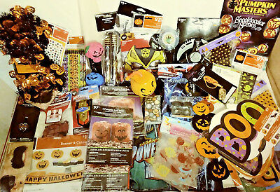 62 Halloween Party Favors & Decorations / Props / Window Clings Pencils & More!