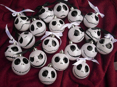 2-12 Nightmare Before Christmas Jack Skellington iris white baubles Halloween