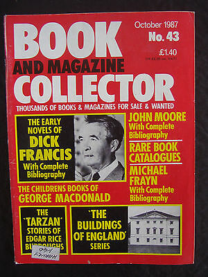 BOOK AND MAGAZINE COLLECTOR ~ OCTOBER 1987 No 43 ~ DICK FRANCIS ~ TARZAN Etc