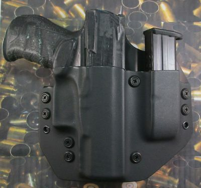 HUNT READY HOLSTERS: Walther PPQ M2 9m OWB Holster with Extra Mag Carrier