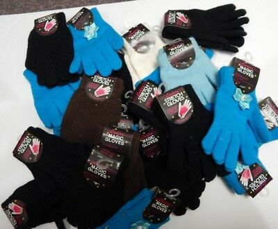 Wholesale Lot (12) Mixed Ladies And Children's Knit Gloves Nwt