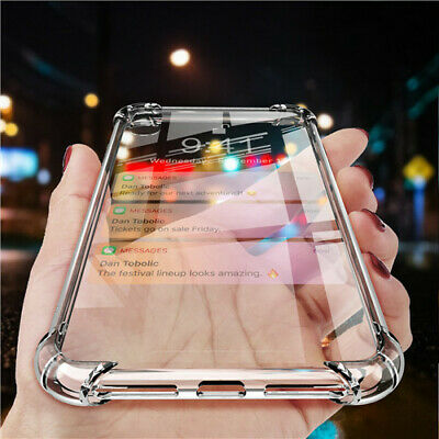 For Samsung Galaxy Note 9 S7 S8 S9 Transparent Clear Hard Armor Case Skin Cover