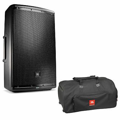 "JBL EON615 1000W 15"" 2-Way Powered Speaker System With Bag with Wheels"
