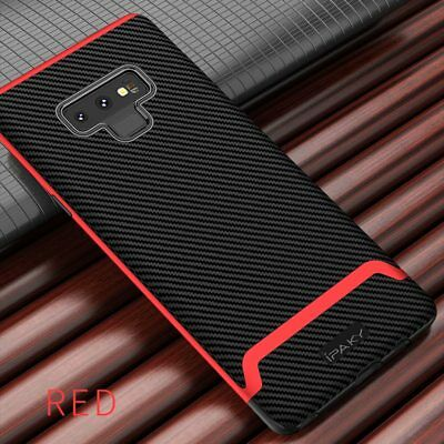 Case Samsung Galaxy Note 9 Carbon Fiber Silicone Cover Soft Shockproof Luxury