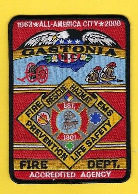 Gastonia Fire Dept Patch North Carolina Beautiful Design Awesome Colors