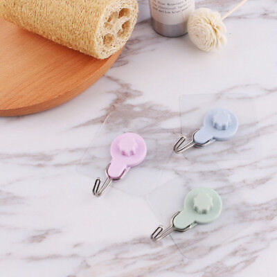 4X Wall Mounted Self Adhesive Hooks Stick Shelf Hanging Clothes Towel Holder D