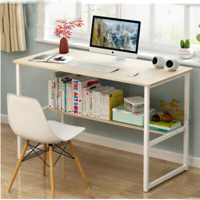 Movable Computer Desk Laptop Home Office Business Sofa Tray Shelves With Wheel