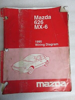 1994 mazda 626 mx 6 mx6 electrical wiring diagram service repair 1995 mazda 626 mx 6 electrical wiring diagrams service manual oem factory shop asfbconference2016 Images