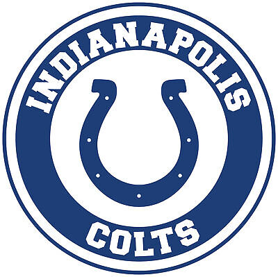 Indianapolis Colts Circle Logo Vinyl Decal / Sticker 10 sizes!!