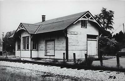 Owings Mills, Maryland Railroad Depot Real Photo Postcard- RPPC