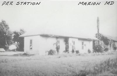 Marion, Maryland Railroad Depot Real Photo Postcard- RPPC