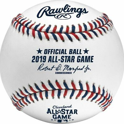 (3) Rawlings 2019 All Star Game MLB Game Baseball Cleveland Indians Boxed