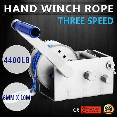 Vevor 4410LBS/2000KGS 3-Speed Strap Hand winch For Boat, Trailer and 4WD