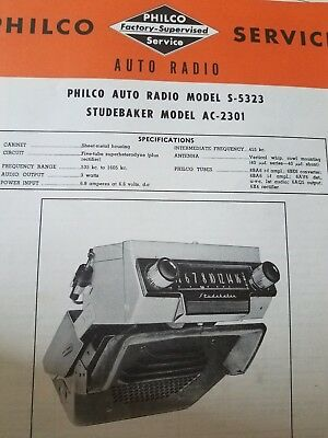 90 early hard to find car radio photofact service manuals