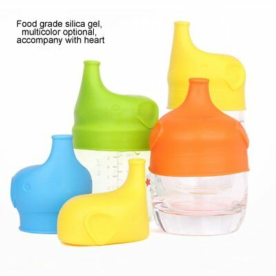 Elephant Silicone Sippy Cup Lid Spill-Proof Cup Cover Babies Drinking Tool RT