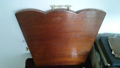 Fantastic Edwardian Style Wooden Table Top Lecturn With Brass Handles