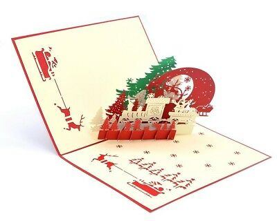 HelloPopCards 3D Pop Up Greeting Card Willow Tree Love Ships from USA FREE!