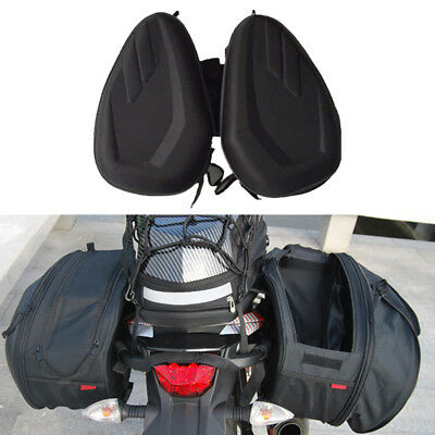 Universal Motorcycle Saddle Bags Luggage Pannier Bags With Raincover 36-58L
