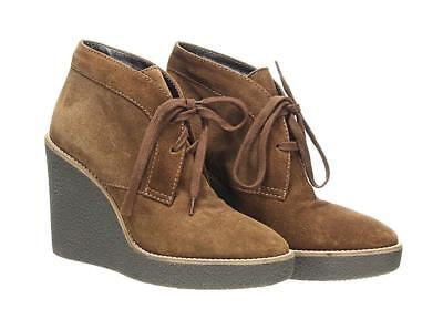 699838cc921c Aquatalia Valeriee Suede Lace-Up Wedge Booties Boots Fashion Boots Size 5.5