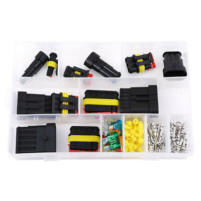 1-6 Pin Practical Car Electrical Terminal Wire Connector Plug&Fuses Kit Case Pro