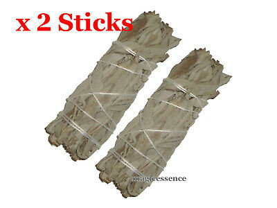 "Smudge Stick California White Sage - Mini 4"" (10cm) - Pack of 2 Sticks"