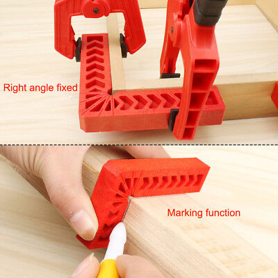 90 Degree L Shape Square Right Angle Clamp Corner Clamping Ruler Fixture Tool