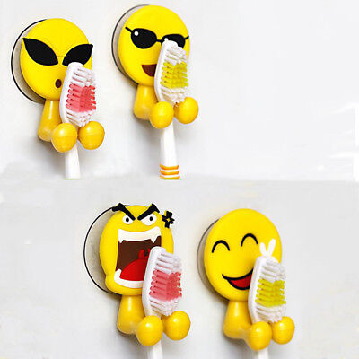 Hot Home Hook Expression Wall Mounted Toothbrush Holder Storage Rack