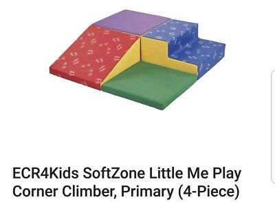 ECR4Kids SoftZone Little Me Play Corner Climber, Primary (4-Piece)