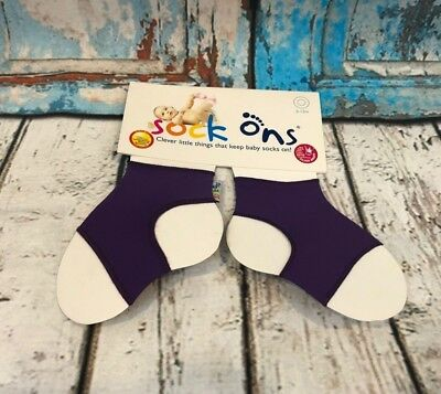 Sock Ons Keep Baby Socks On Purple Socks Size: 6-12 Months New in Package