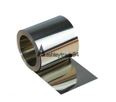 1pcs 304 Stainless Steel Fine Plate Sheet Foil 0.01 x 100 x 1000mm
