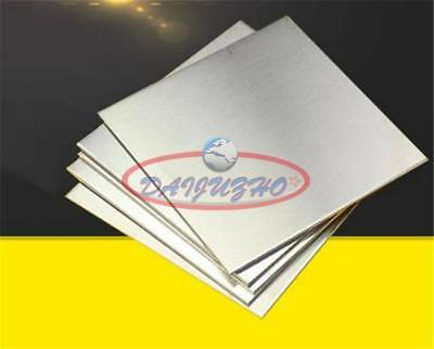 1Pc New 304 Stainless Steel Fine Polished Plate Sheet 1.5mm x 100mm x 100mm
