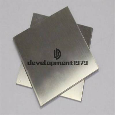 1pcs 304 1mm x 100mm x 100mm Stainless Steel Fine Polished Plate Sheet New