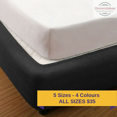 Ramesses Easy Fit Quilted Elastic Fitted Valance | Box Spring Cover Base Cover