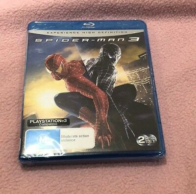 Spider-Man 3 (Blu-ray, 2007) Brand New Sealed in Plastic Region B