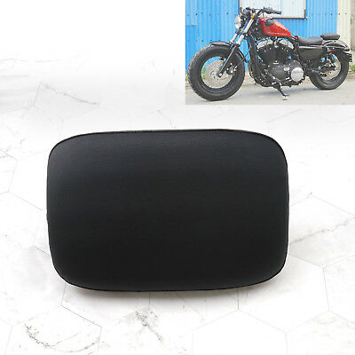 Rectangle Rear Pillion Passenger Pad Seat 8 Suction Cup For Harley Motorcycle