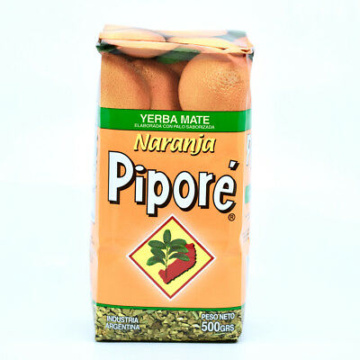 Pipore Yerba Mate Traditional Tea Orange Flavour 500g - Produced in Argentina