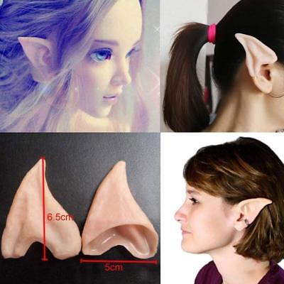 Latex Fairy Pixie Elf Ears Cosplay Halloween Party Pointed Prosthetic Ear Tips