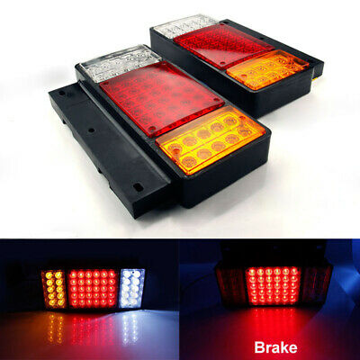 Pair 12V Lights Led Stop Rear Tail Light Indicator VAN Trailer Truck Lorry Bus