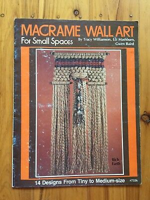 Macrame Vintage Pattern Book Wall Art for Small Spaces 14 fantastic hangings