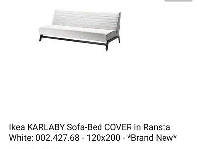 Surprising Ikea Karlaby Sofa Bed Cover In Ransta White 002 427 68 Pabps2019 Chair Design Images Pabps2019Com