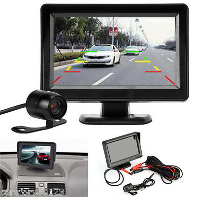 "Wireless LCD 4.3"" TFT Monitor Car Rear View Reverse Back Up Camera Night Vision"