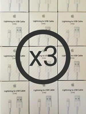 3Pack Original Lightning USB Cable Charger For OEM Apple iPhone X 8 7 6S Plus 5