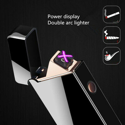 New Double arc lighters USB Windproof flameless charging Cigarette lighter nogas