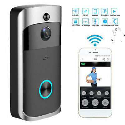 Smart Video Wireless WiFi DoorBell IR Camera Record Night Vision Home Security